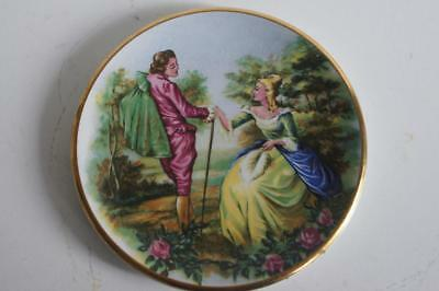 A Lovely Small Harry Hancock Tunstall Ltd Staffordshire Plate Courting Couple 1.