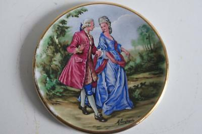 A Lovely Small Harry Hancock Tunstall Ltd Staffordshire Plate Courting Couple 2.