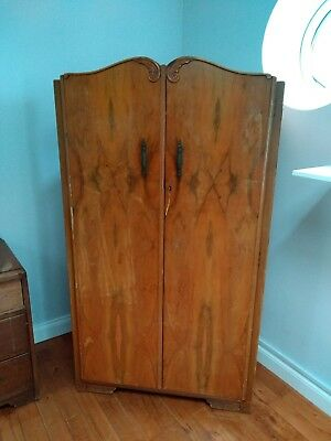 Vintage Antique Wardrobe with Shelving