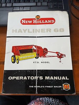 *****new Holland Hayliner 68 Operators Manual*****