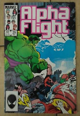 Alpha Flight #29 1985 VF+ Marvel Comic Hulk Mike Mignola Discount & 25+ FREE P&P