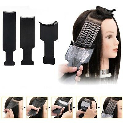 1x Salon Hair Coloring Dyeing Plate Pick Color Board Hairdressing Brush Comb