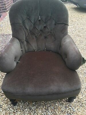 Victorian Iron Back Chair Metal Frame Nursing Chair