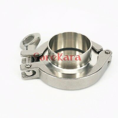 """1.5"""" Tri Clamp x 32mm Pipe OD SUS304 Sanitary End Cap Union Set Homebrew"""