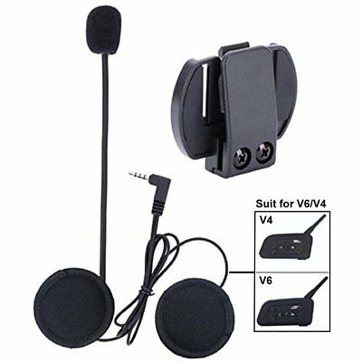 Earphone/Mic+Clip/Bracket 1200M BT Motorcycle Helmet Intercom Headset V4/V6 RT