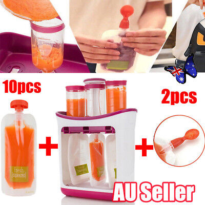 OZ Baby Feeding Food Squeeze Station Toddler Infant Fruit Maker Dispenser SPOON
