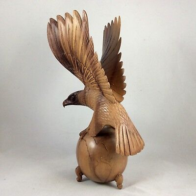 Bald Eagle Flying . Hand Carved From ( Sono ) Iron Wood With Excellent Details .