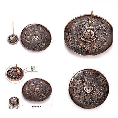 Hipiwe Dragon Incense Burner Stick Holer Metal Censer Plate Sandalwood Holde NEW