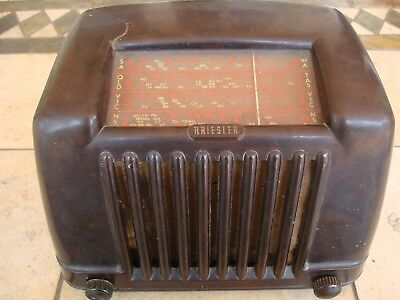 Vintage Kriesler Brown Bakelite   Valve Radio Model 11-29