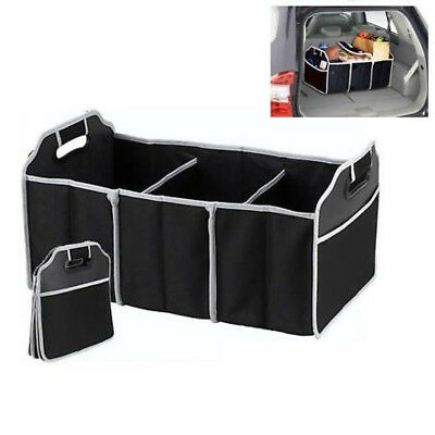 2-in-1 Car Boot Organiser Tidy Heavy Duty Collapsible Foldable Storage DCUK