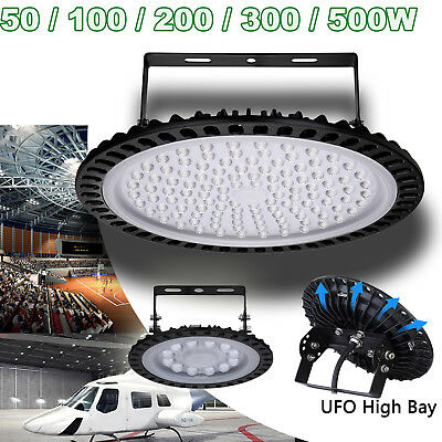LED High Bay Light 50/100/200/300/500W Low Bay UFO Warehouse Industrial Lights