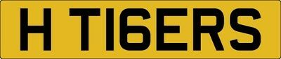 Hull City Football Team H TIGERS Private Registration Plate Memorabilia