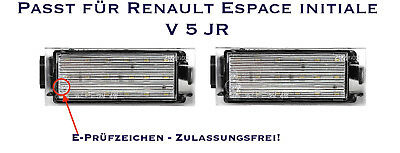 LED SMD Kennzeichenbeleuchtung Renault Espace initiale V 5 JR (06)