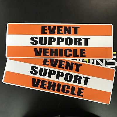 EVENT SUPPORT VEHICLE magnet Magnetic Signs Pair Emergency Call Signage Car Van
