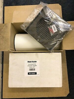 Vent Axia 454601 Silhouette 150mm Wall Kit (Brown) Suits Any 150mm Extractor Fan