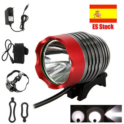 LUZ FOCO BICI BICICLETA XML T6 LED 6000 LUMENS 2 EN 1 Bike Bicycle Light Batería