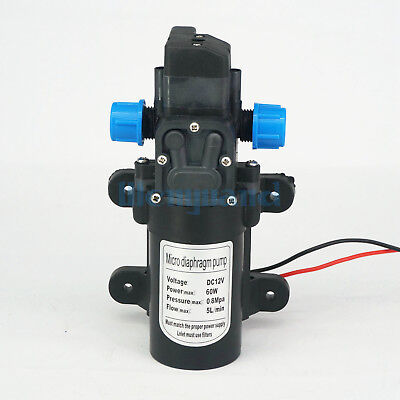 DC 12V 60W Diaphragm Self Priming Booster Pump with Automatic pressure Switch YB