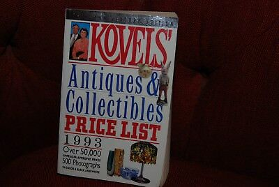 Kovels' Antiques & Collectibles Price List 1993 25th Anniv. Ed. PB