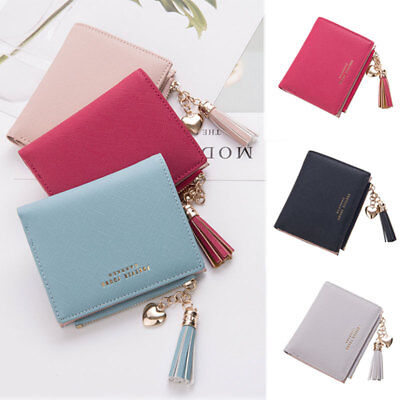 US Women Girls Short Wallet Coin Purse Organizer Pocket Small Credit Card Holder