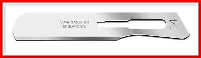 Swann Morton STERILE SURGICAL CARBON STEEL SCALPEL BLADES NO. 14