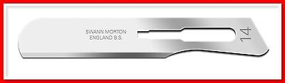Swann Morton Sterile Surgical Carbon Steel Scalpel Blades No 14 Single peel