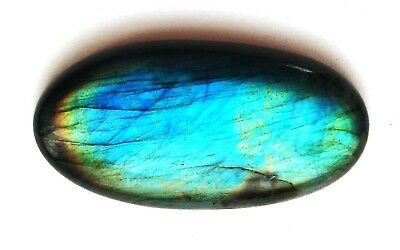 53.10Ct Natural Blue Multi Flash Labradorite Oval Cabochon Loose Gemstone Ns 45