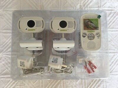 Uniden 5.8cm Digital Wireless Baby Video Monitor with 2 Cameras BW3000 - NEW