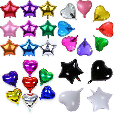 1Pcs Heart Star Shape Foil Balloon Happy Birthday Supplies Wedding Party Decor