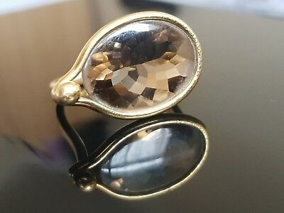 Georg Jensen Yellow Gold 18ct Ring Savannah with Citrine by Vivianna Torun