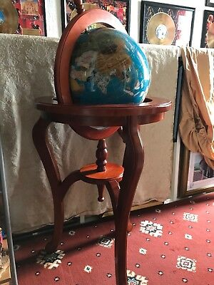Large Freestanding Gem Stone Globe