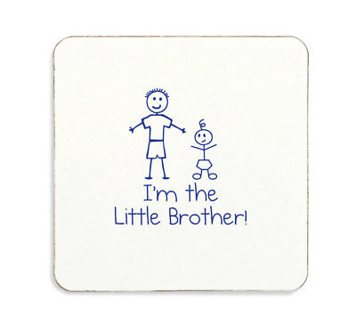 Im The Little Brother Coaster Gift Pregnancy Baby Celebration Present For Little