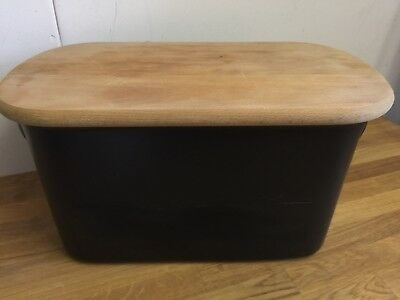 Black Ceramic Bread Bin Home
