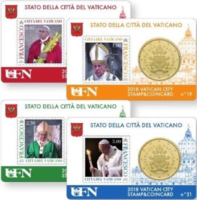 Stamp & Coin Card  Vaticano 2018