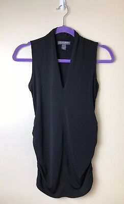 Women's A Pea In The Pod Maternity Tank Size Small Solid Black Spandex Business
