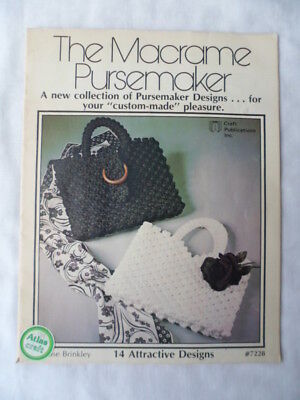 The Macrame Pursemaker pattern book -  23 Pages 14 Designs