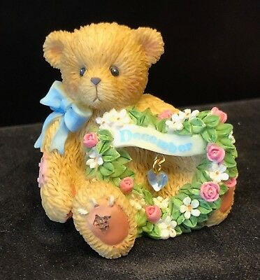 Cherished Teddies Sparkling Hearts Birthstone Bear #111894 - December