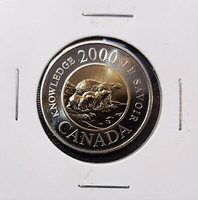 2000 $2 Knowledge Toonie Specimen Canada - From Mint Set