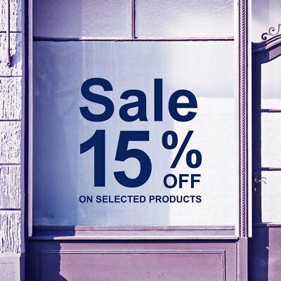 Sale % On Selected Products Sign Shop Window Display Wall Decals Stickers A311