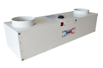 Air heat exchanger with preheater (D160 round duct) Рекуператор с догревателем