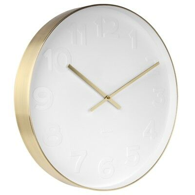 Mr White Numbers Gold Clock - Large [D]