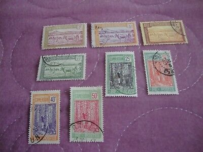 Cameroon 1925 stamp part set to 50c mainly used
