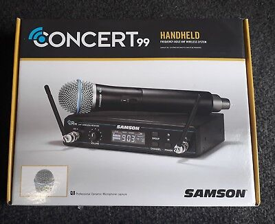 REDUCED Samson Concert99 Handheld Frequency-Agile UHF Wireless Microphone System