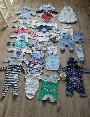 Baby Boy, Clothes Bundle, Newborn, 0-3 Months Next, John Lewis all you need