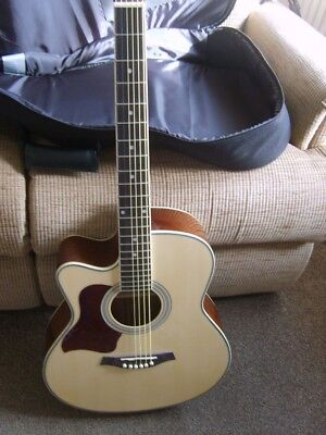 Acoustic Electric Left-handed Guitar and Gig Bag by Gear4Music Pre-owned