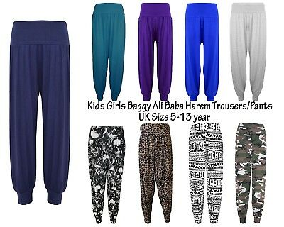 Girls Kids Boys Hareem Trouser Ali Baba Harem Leggings Pants Customs Dance Uk