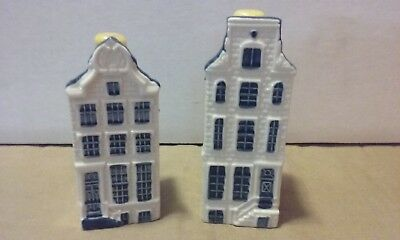 Blue Delft House(s) #62 and #68 - for KLM by BOLS Royal Distilleries Holland