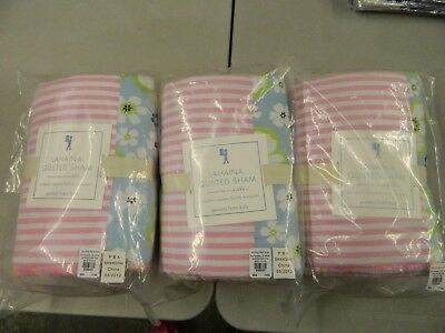 Pottery Barn Kids Lahaina Quilted  European Square Sham Lot of 3