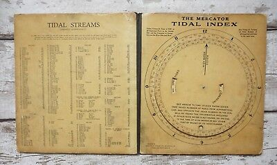 Antique Naval  John Lilly & Sons(Wilson & Gillies) The Mercator Tidal Index Rare