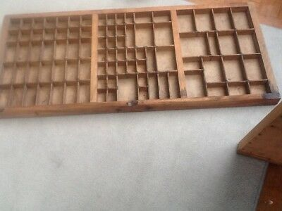 Vintage Wooden Printers Type Case