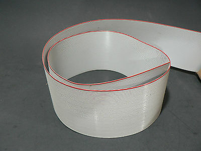 """5 FT 50 PINS CONDUCTORS GREY FLAT RIBBON CABLE 28AWG .05"""" /1.27mm PITCH S/FREE"""